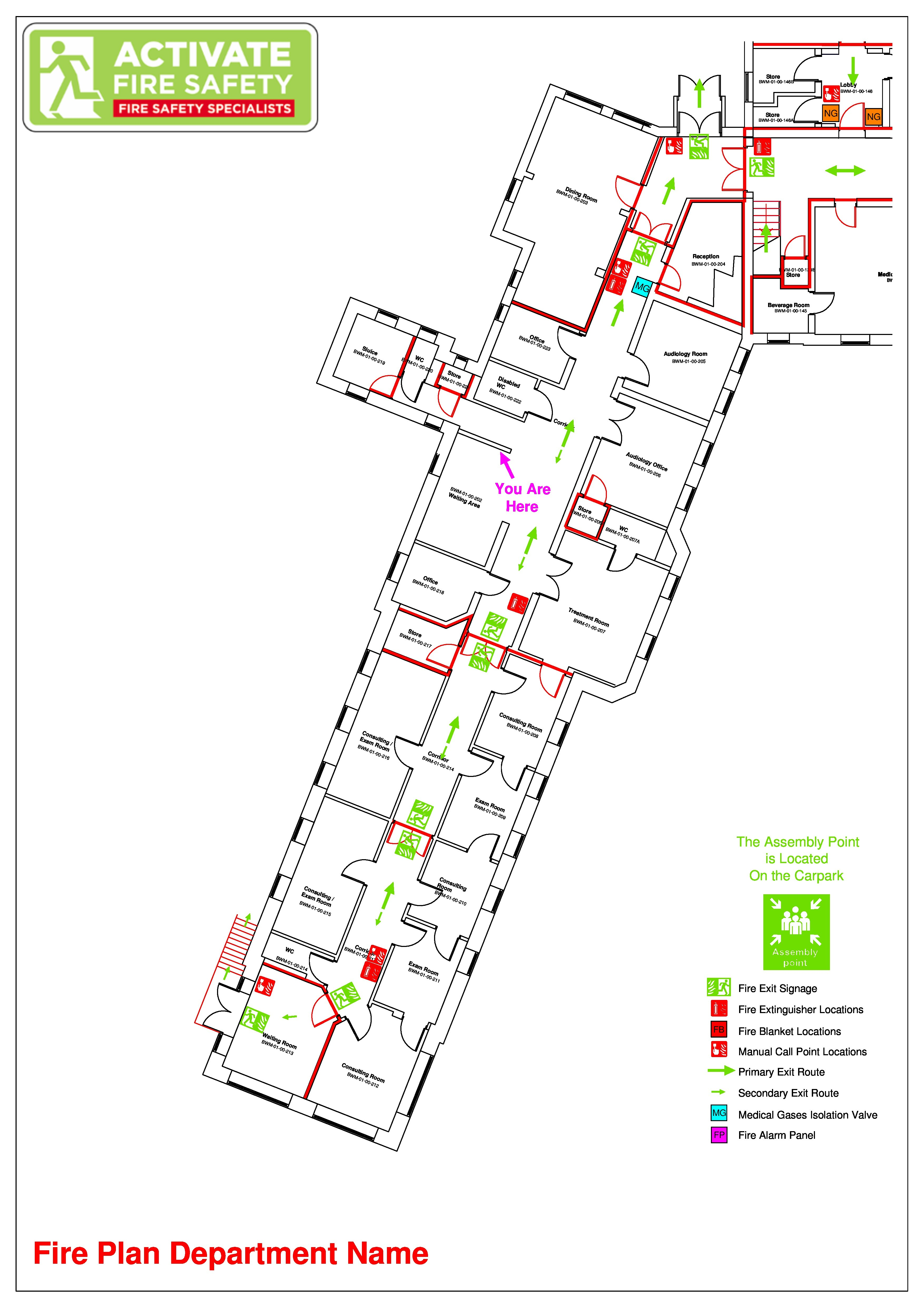Fire Plan Drawings | Activate Fire Safety | Fire Risk ...
