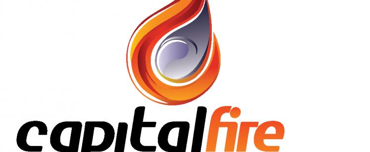 Capital Fire Logo Final Black + White